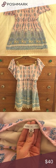 Selling this Nordstrom off-the-shoulder dress on Poshmark! My username is: nicolabarone. #shopmycloset #poshmark #fashion #shopping #style #forsale #Socialite #Dresses & Skirts