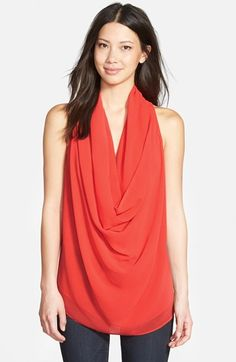 Love Fate Destiny Drape Neck Sleeveless Blouse available at #Nordstrom