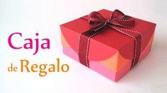 Manualidades: CAJA de REGALO (Fácil) - DIY Innova Manualidades