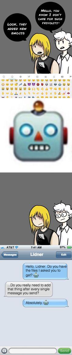 Tags: Death Note, Mello, Near, emojis