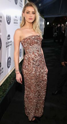 Amber Heard in J.Mendel attends The Art of Elysium Gala. #bestdressed