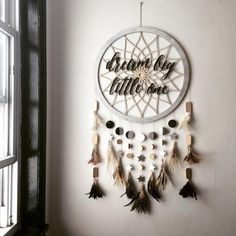 ✨ Dream Big, Little One ✨ laser cut dreamcatcher. I'm finally getting into some laser cut decor for kids rooms  So excited for the possibilities.