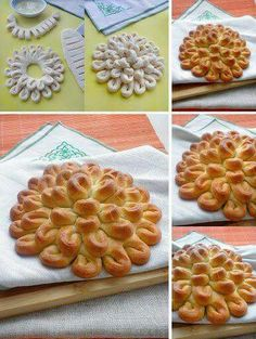 : Bakery Another lovely bread Bread Recipes, Baking Recipes, Bread Shaping, Bread Art, Bread And Pastries, Food Decoration, Artisan Bread, Creative Food, Creative Ideas