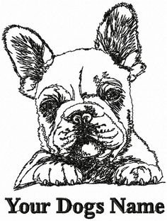 Personalized FRENCH BULLDOG PUP Dog Breed Embroidered T-shirt Youth-Adult XL