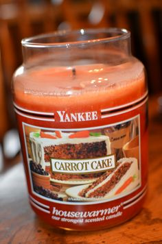 Yankee Candles - Carrot Cake, yum not sure if I should burn it or eat it!!!