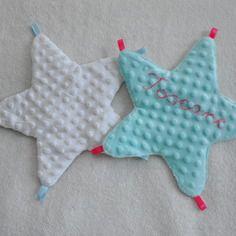 Doudou étoile personnalisable avec rubans (disponible en plusieurs couleurs)
