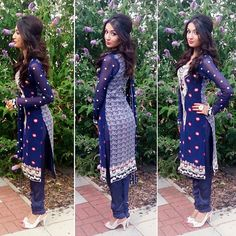 Still one of my favourite eid outfits - excuse the weird faces my definition of a good pose was very different back then  Ideally I would have preferred the kameez to have been a little longer but as it was a semi stitch and done very very last minute (thanks to my amazing tailor who I gave it to the day before eid ) that wasn't possible but I think it still turned out beautiful! #fashion #blogger #mystyle #eid #simplycovered #ootd #outfitblogger #fashionblog #outfit #instalove #picofthed...