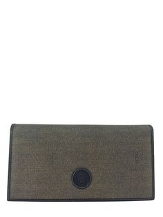 Fendi Vintage Coated Canvas Logo Long Wallet Clutch aed5fdfabb2c6