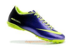Nike Mercurial 2013 TF Soccer Cleats Cheap Navy Purple Fluorescent Green