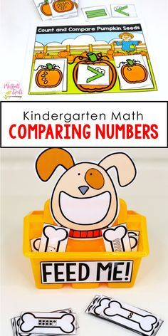 Comparing Numbers 1-10 can be so much fun with these hands-on math centers for Kindergarten!  Plus, more fun math games to practice greater than, less than and equal to!