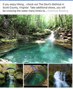 Devil's Bathtub, Scott County, Virginia ~but of course he bathed in VA~ Beautiful Places To Travel, Cool Places To Visit, Romantic Travel, Vacation Places, Dream Vacations, To Infinity And Beyond, Future Travel, Adventure Is Out There, Adventure Travel