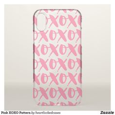 Pink XOXO Pattern Clear iPhone 6/6S Case