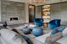 Knightsbridge Penthouse - contemporary - Living Room - London - Staffan Tollgard Design Group London Land Group Original article and . Living Room Modern, Living Room Interior, Home Living Room, Living Room Designs, Living Spaces, Studio Living, Living Area, London Living Room, Room London
