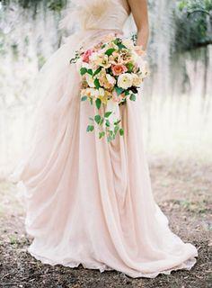 Pink wedding dress #pink blush pink......beautiful!