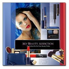 """""""Beauty (red and blue)"""" by littlefeather1 ❤ liked on Polyvore featuring NARS Cosmetics, Estée Lauder, Yves Saint Laurent, AERIN, Tabitha James Kraan, Aspinal of London, Lancôme, Clé de Peau Beauté, topsets and Beauty"""