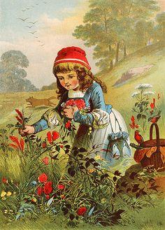 Little Red Riding Hood, Carl Offterdinger (1829 – 1889, German)