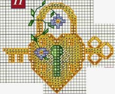 crochet home: Hearts Embroidery Biscornu Cross Stitch, Cross Stitch House, Mini Cross Stitch, Cross Stitch Heart, Cross Stitch Borders, Cross Stitch Flowers, Cross Stitch Designs, Cross Stitch Embroidery, Cross Stitch Patterns