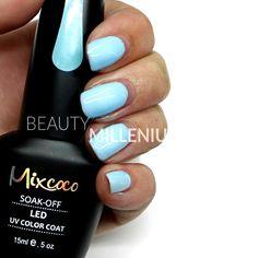 #Mixcoco #gellak #042 'Spring Blue' verkrijgbaar via www.beautymillenium.nl - prijs €14,95 ✨ minimaal 2 weken lang prachtig gelakte #nagels met #MixcocoGellak #nails #gelnails #manicure #gelmanicure #nailart #gellish #gellac #gelish #gelnagellak #mani #nailartclub #beauty #nailpolish #lightbluenails #bluenails