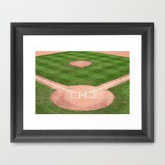 Baseball field /Baseballfeld Framed Art Print by Karl-Heinz Lüpke - $33.00
