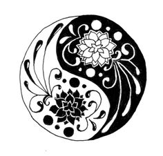 beautiful ying yang symbol