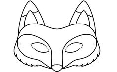 fox face cutouts | 15. Create Your Fox Mask: