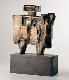 Nicolas Vlavianos: Figura, 1965. Latão soldado, 34 x 31 x 12 cm