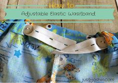 Adding an Adjustable Waistband to Easy Fit Shorts