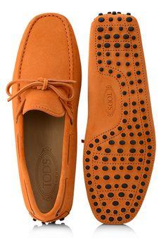 Mocasines naranjas, de #Tod's
