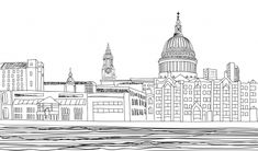 Download this amazing coloring page about this famous cathedral in London, and enjoy!