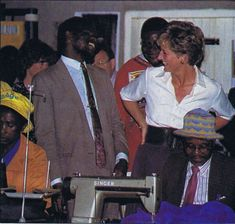 July 13, 1993: Princess Diana at the Tongogara Refugee Camp in Zimbabwe.