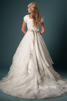 Modest Wedding Dress, Esmerelda | LatterDayBride & Prom this is what I want for my wedding (which is in the VERY distant future!!!!)