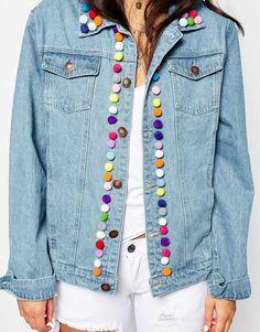 Image 3 - Liquor & Poker - Veste en jean avec pompons