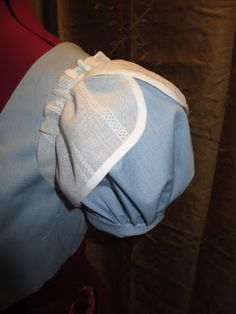 A Sartorial Statement: HSF Stripes Challenge - Regency Ballgown (petal sleeves) Historical Costume, Historical Clothing, Regency Dress, Regency Era, Petal Sleeve, First Communion Dresses, Medieval Fashion, How To Make Clothes, Little Dresses