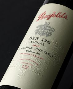 Penfolds bin 170 #wine #label #design