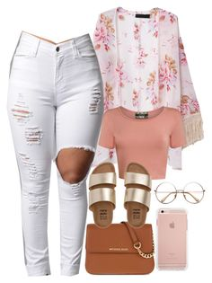 """""""Kimonos/Cardigans Are Just Cute"""" by goddessnaii ❤ liked on Polyvore featuring Pilot, MICHAEL Michael Kors and Billabong"""