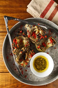 Grilled Artichokes with Tarragon Butter