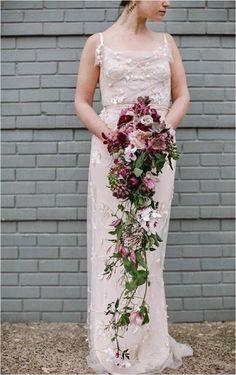 cascading bridal bouquet - Love Me Do Photography