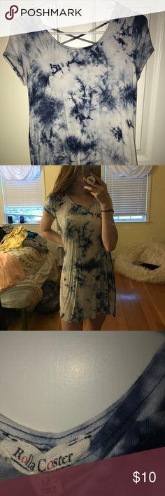 Dress Blue and white tie-dye dress Marshalls Dresses