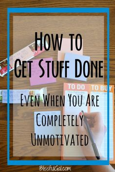 Get stuff done when you are completely unmotivated. We all go through lazy periods, but these tips will get you moving!