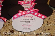 The Ashcraft Bunch: DIY Minnie Mouse Birthday Invitations