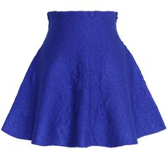Chicwish Daisy Embossed Skater Mini Skirt in Blue ($38) ❤ liked on Polyvore featuring women's fashion, skirts, mini skirts, bottoms, saias, blue, skater skirt, daisy print skirt, daisy skater skirt and short mini skirts