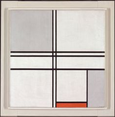 Piet Mondrian. Composition (No. 1) Gray-Red, 1935. Gift of Mrs. Gilbert W. Chapman. © Mondrian/Holtzman Trust c/o HCR International, Warrenton VA.