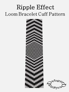 Ripple Effect Loom Bracelet Cuff Pattern SAVING buy by LoomTomb, $6.50