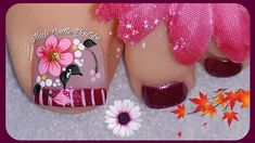 Toe Nail Art, Toe Nails, Dream Nails, Toe Nail Designs, Pedicure Nails, Yule, Tattoos, Make It Yourself, Youtube