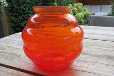 Violenvaas replica oranje - A.D Copier - Royal Leerdam door Leerdamart op Etsy