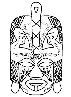 afriquecoloriagemasque 2gif 595816 african masksafrican