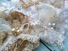 Wholesale Lot Set of 6 Vintage Lace Fabric by RhysandRaesCreations, $35.00