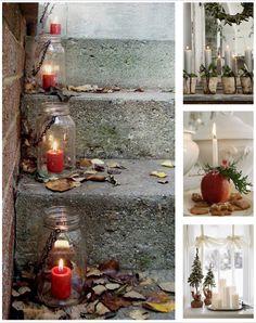 home decor Christmas candles