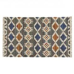 Navajo inspired patterned rug