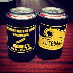 Get your free #coozies tonight at #lifeguardnight! #drinklocal #pbr #redstripe #rumrunners #maxwells